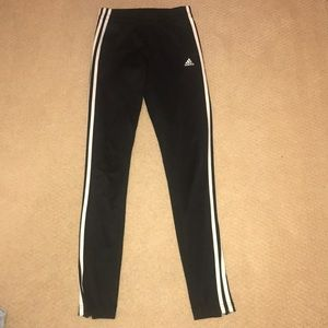 Adidas black and white striped joggers